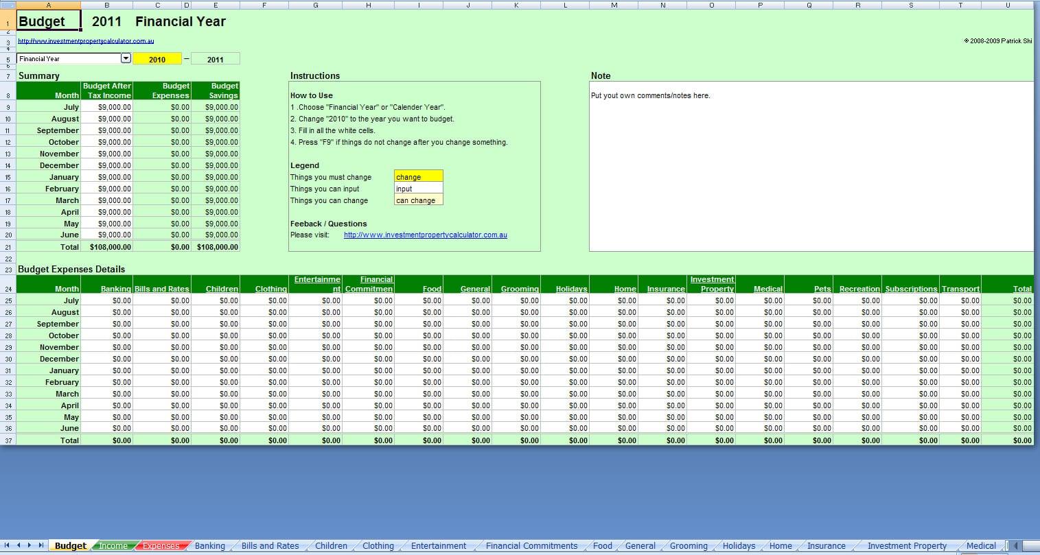 Financial Planning Spreadsheet Free Finance Spreadshee Free Budget Template Best Budget