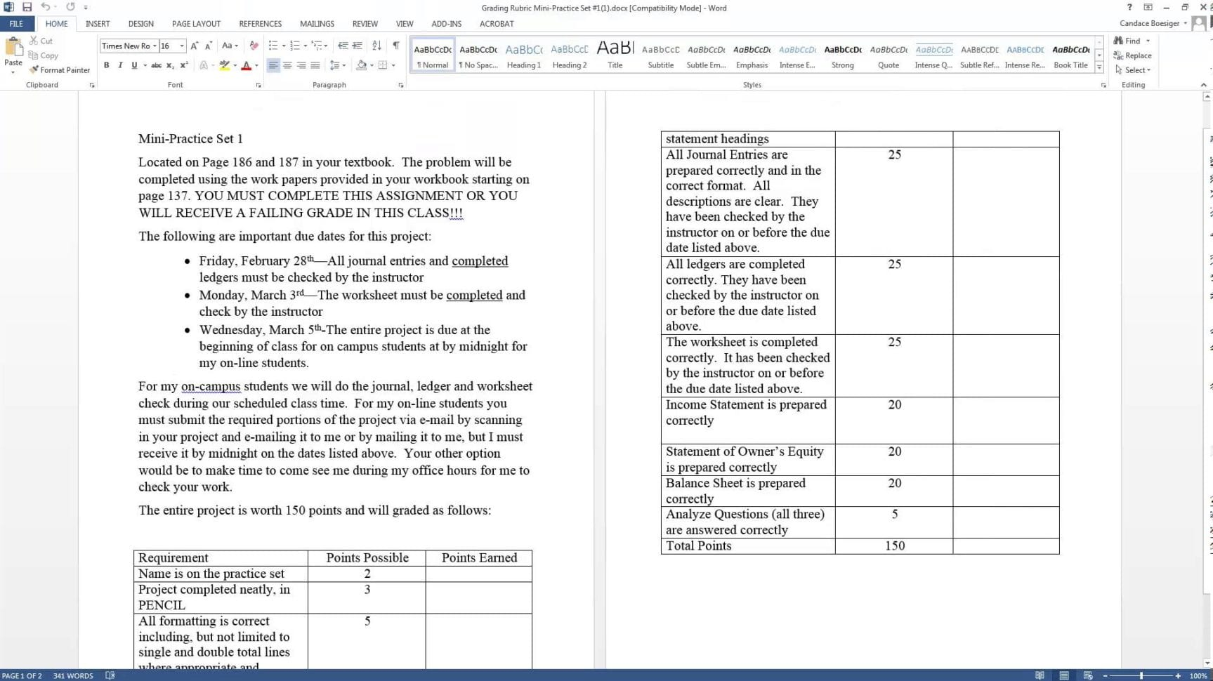Accounting Practice Worksheet Spreadsheet Templates For
