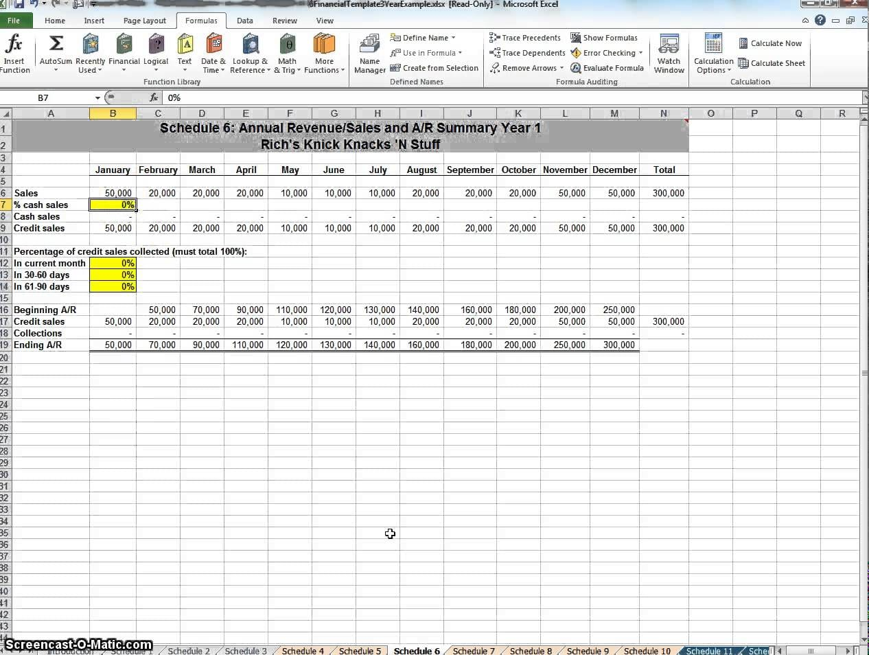 Financial Plan Template Free Spreadsheet Templates For