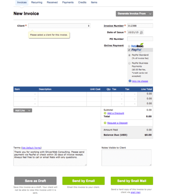 25+ Landscape Invoice Template Quickbooks Pictures and Ideas