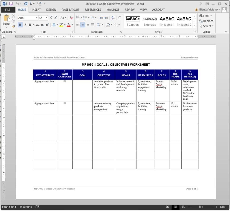 Marketing Spreadsheet Template