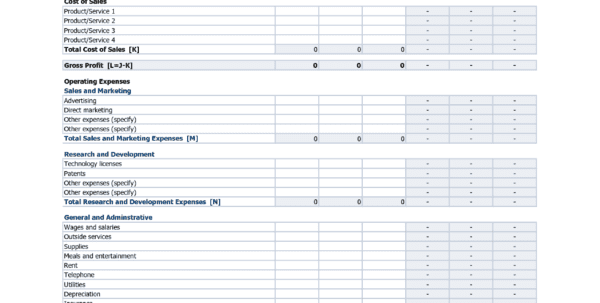 Profit Loss Spreadsheet Template Spreadsheet Templates for