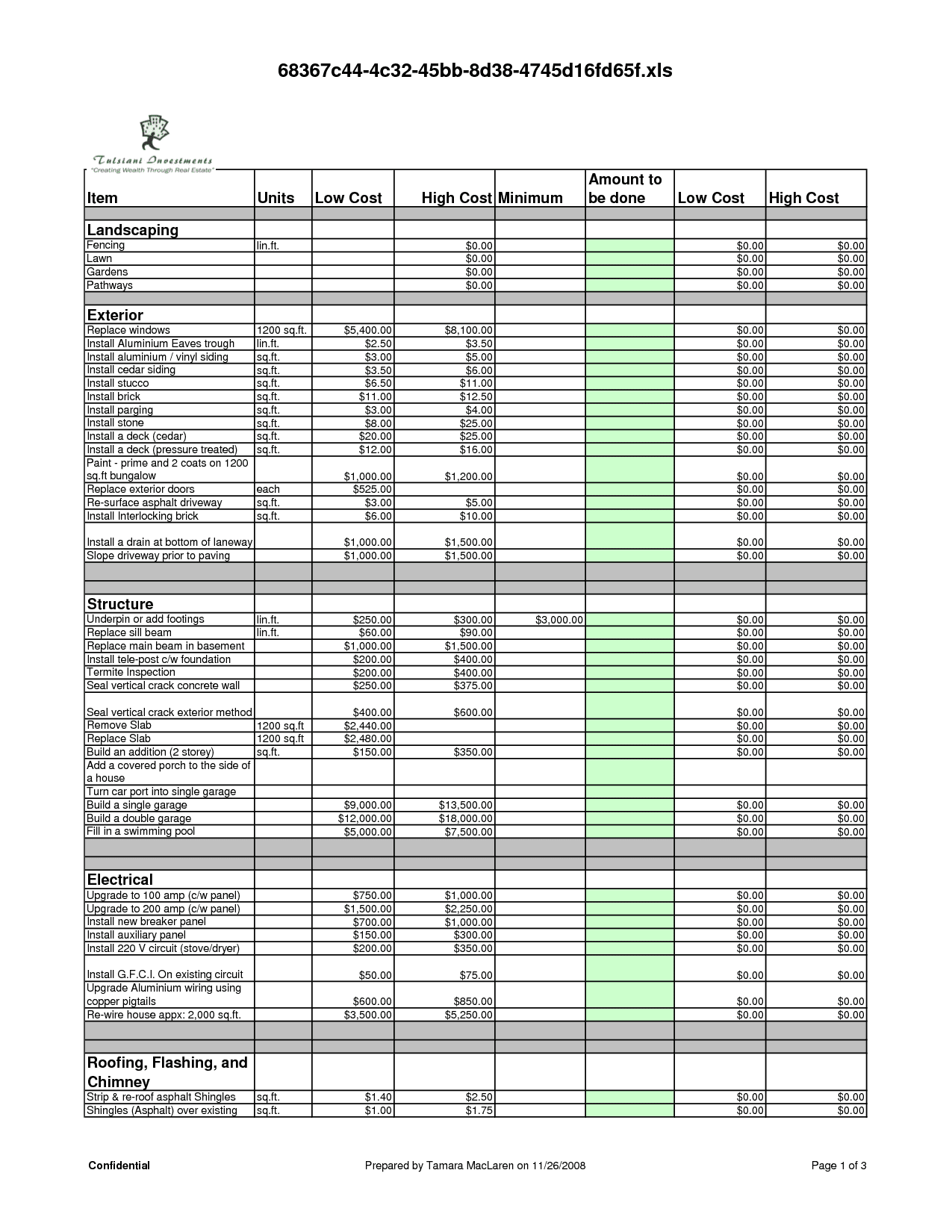 Renovation Spreadsheet Template Spreadsheet Templates For Busines Free Templates For Home