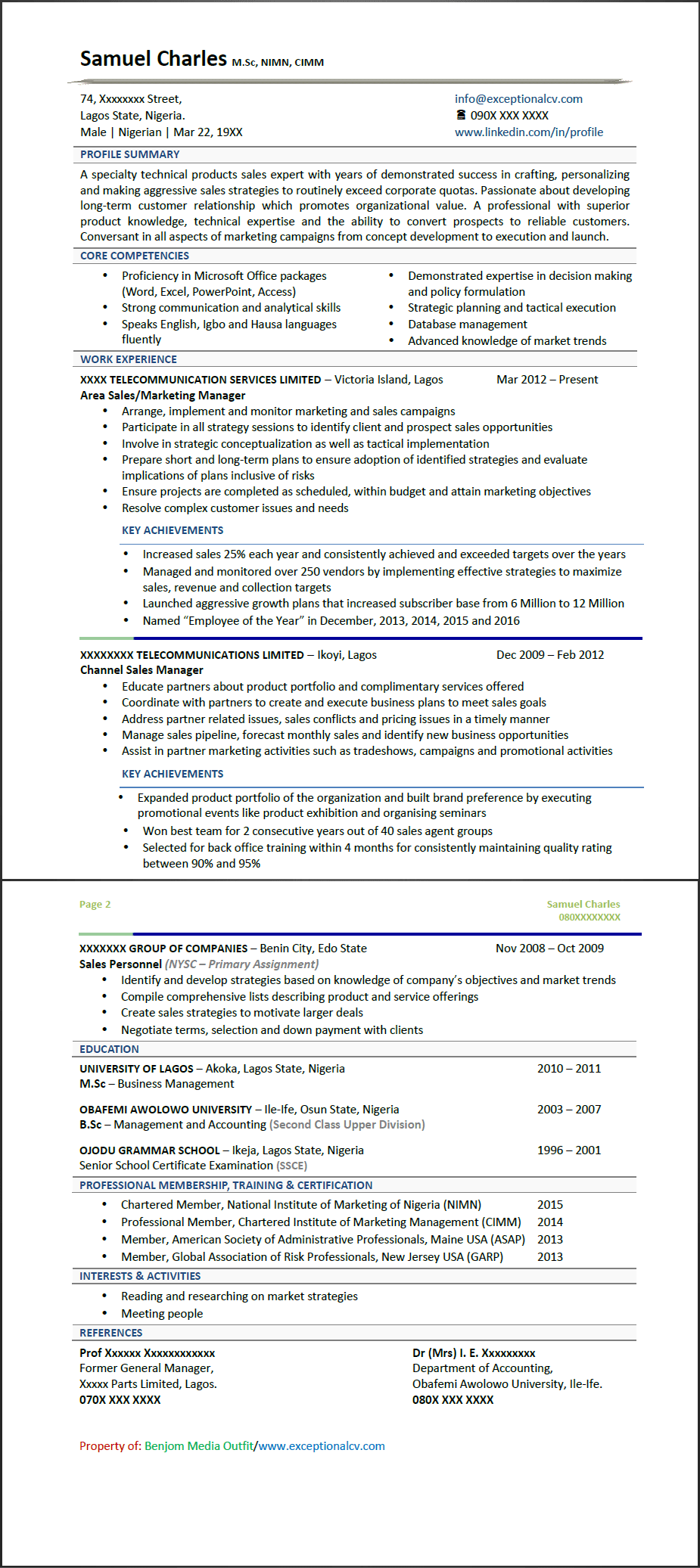 CV Samples - For CV Writing, View Outstanding CV Samples You Can Use
