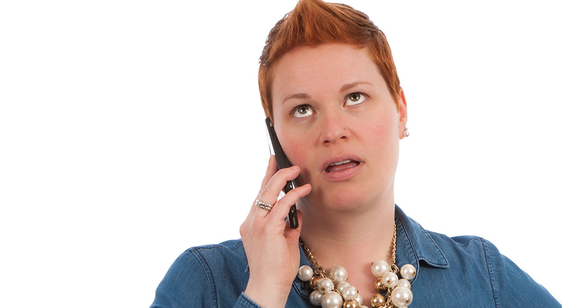 Image of woman on phone rolling their eyes - are all your customer touchpoints equally great