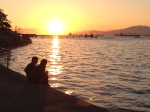 Kits Beach Sunset Copyright Shelagh Donnelly