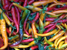 ... and vibrant peppers