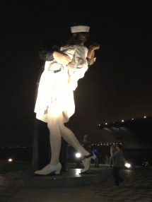 "Unconditional Surrender; the ""kissing statue"""