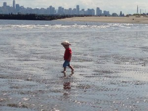 Toddler at Beach Copyright Shelagh Donnelly