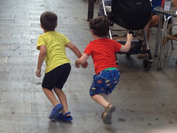 Boys at play Palma de Mallorca Copyright Shelagh Donnelly