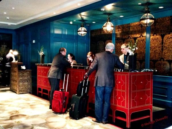 Hotel Monaco Reception Copyright Shelagh Donnelly