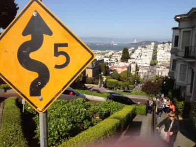 Lombard St San Fran Copyright Shelagh Donnelly