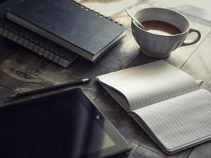 iPad, Notebooks and Tea