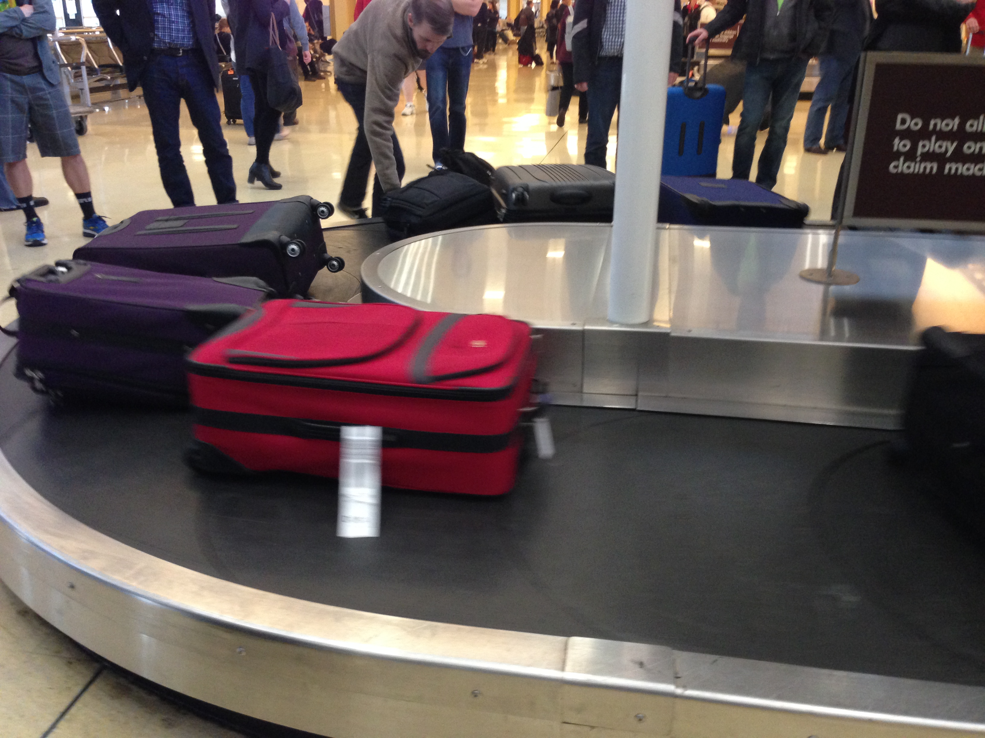 Luggage at DC Reagan Copyright Shelagh Donnelly