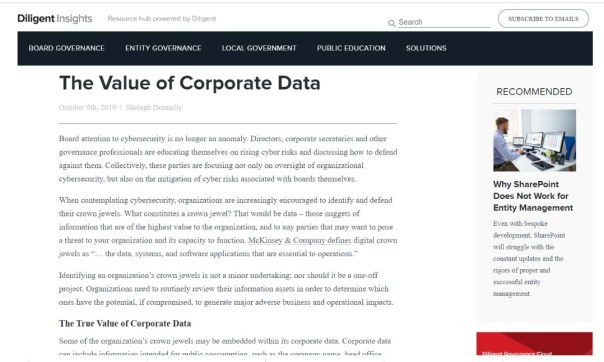 Diligent-Insights-Value-of-Corporate-Data