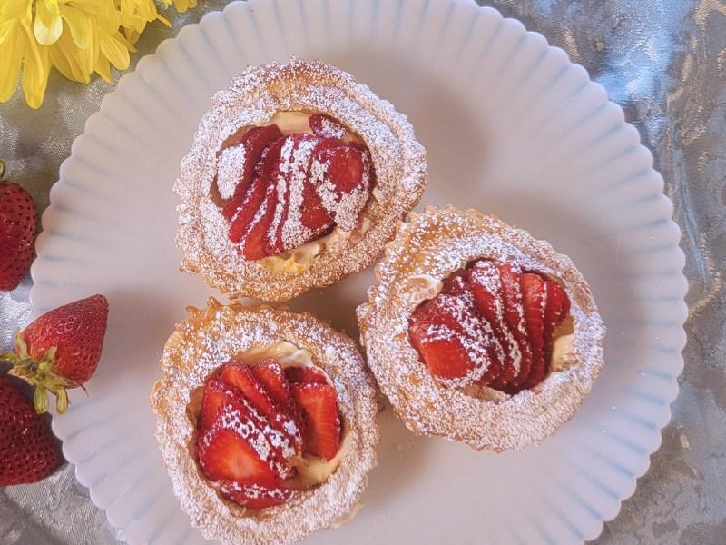 Strawberry and Orange Cream Cheese Pastries