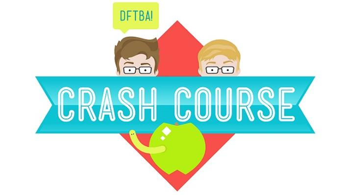 Image of the logo for Crash Course