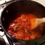 HelloFresh - Italian Spaghetti & Meatballs - Simmering