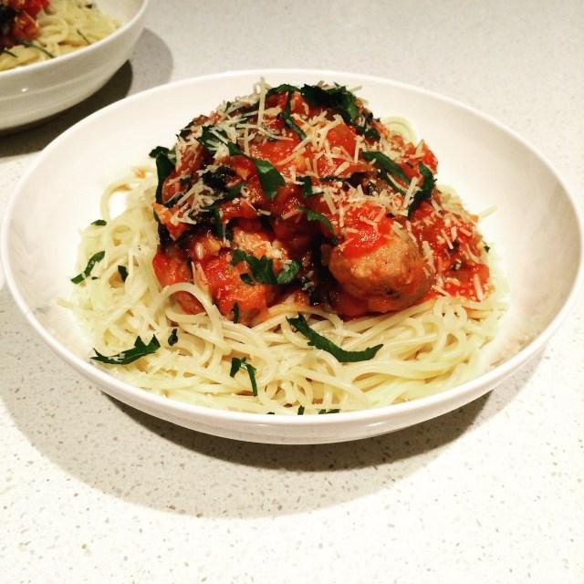 HelloFresh - Italian Spaghetti & Meatballs - Served