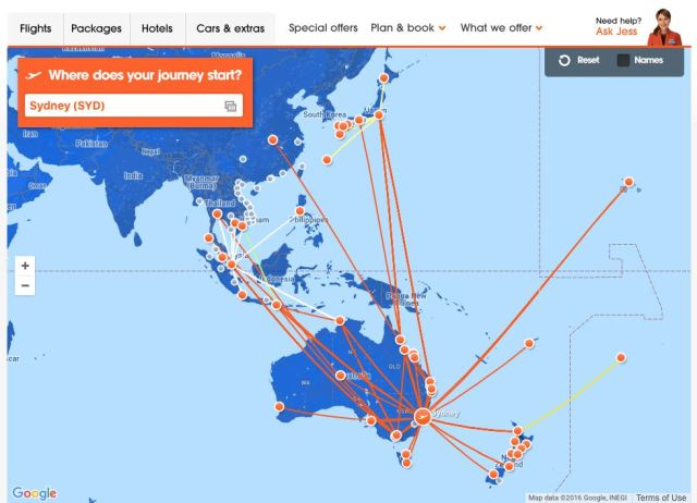 Jetstar Routes