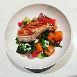 #LemonPepper #Chicken on #RoastedVegetables with #Fetta. Lots of #colour on the #plate  #Homemade #MealKitNinja #FoodPorn #InstaGood #Instafood #Instafoodie #igerscanberra #Dinner #FreshFood