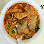 Enjoying a #BBQPork #Laksa for #TeamLunch.  #ediblecbr #canberrafood #FoodPorn #Canberra #Tuggeranong #Foodcoma #instagood #InstaFood #Malaysia