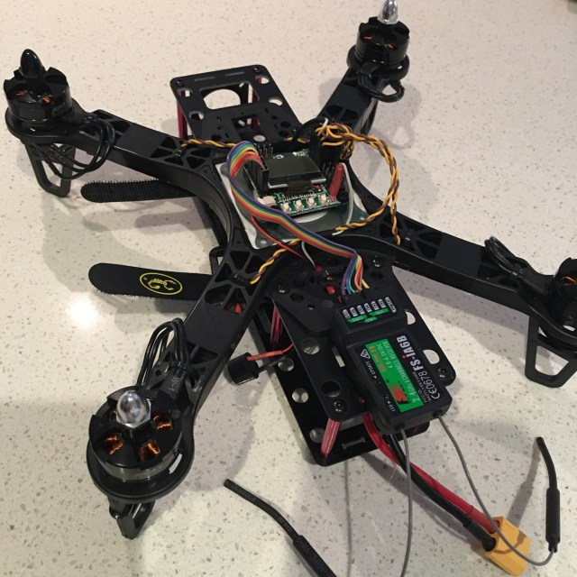 FlySky iA6B Receiver mounted