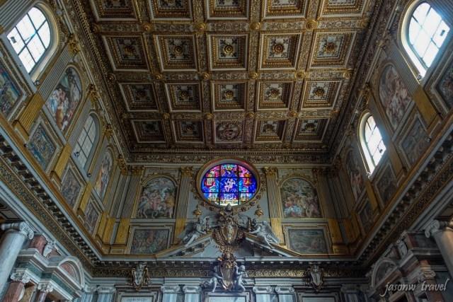 羅馬聖母大教堂內部 Basilica Papale di Santa Maria Maggiore Inside