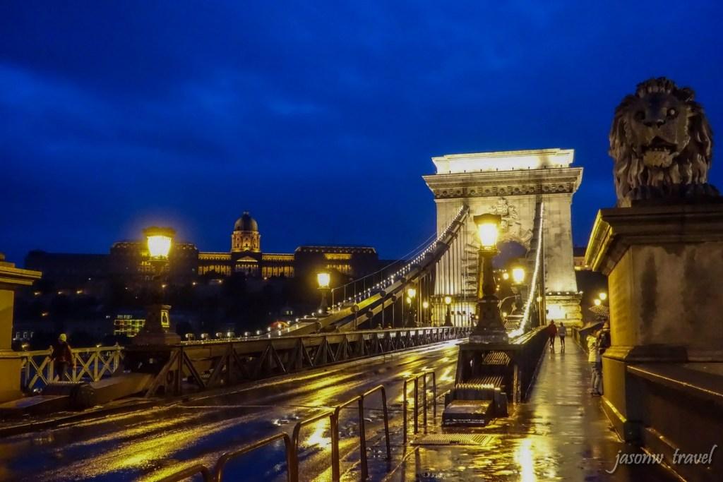 Budapest Széchenyi lánchíd night view 布達佩斯塞切尼鏈橋夜景