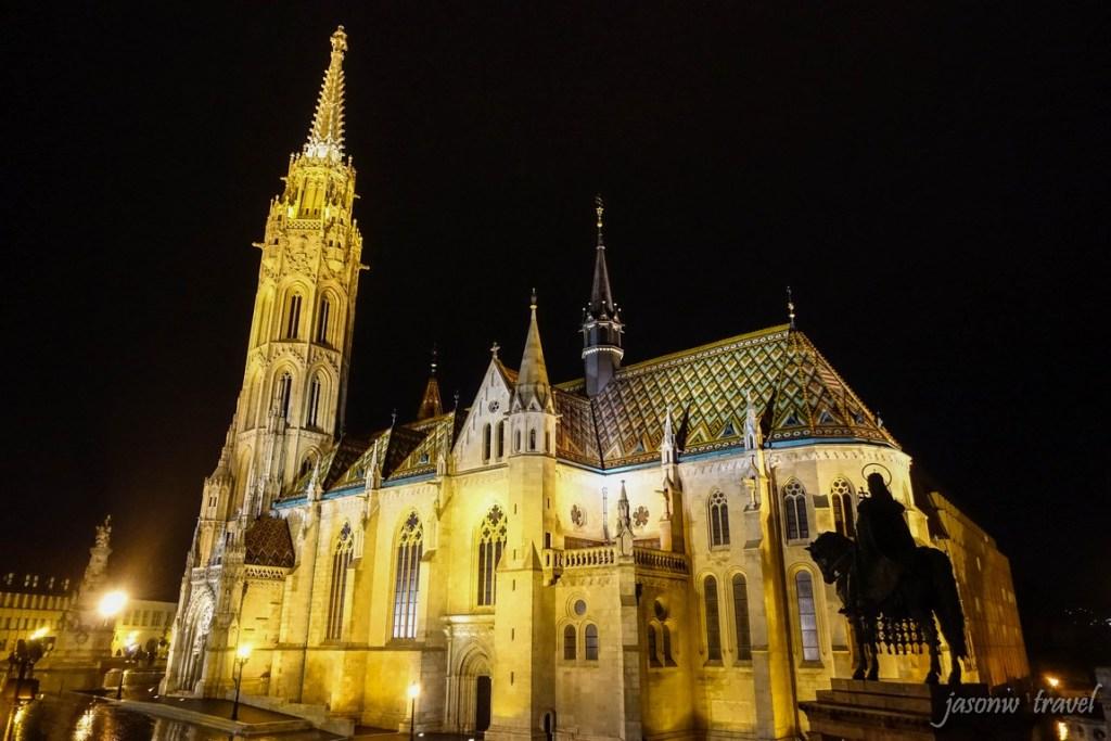 Budapest Mátyás-templom night view 布達佩斯馬加什教堂夜景