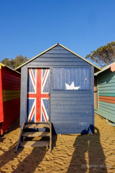 墨爾本布萊頓海攤澳洲國旗彩色小屋 Brighton Australian Flag Bathing Box, Melbourne