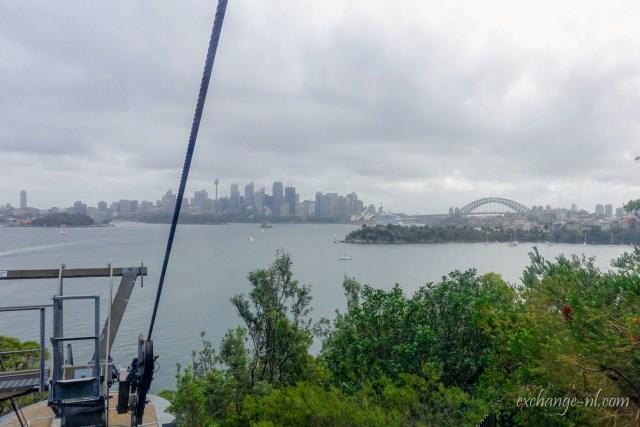 悉尼塔龙加动物园缆车景色 View from Cable Car in Sydney Taronga Zoo