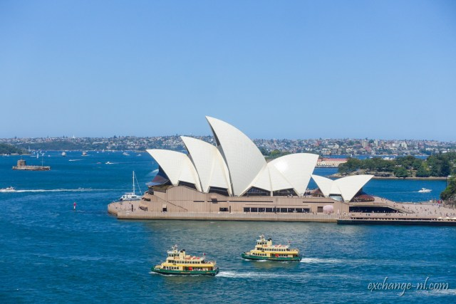 悉尼港灣大橋遠眺悉尼歌劇院 View of Sydney Opera House from Sydney Harbour Bridge