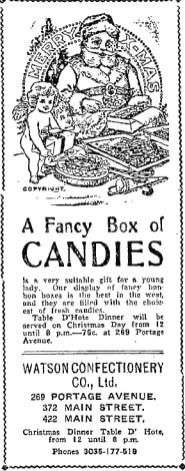 1905-12-23 - Winnipeg Morning Telegram - Christmas Candy ad