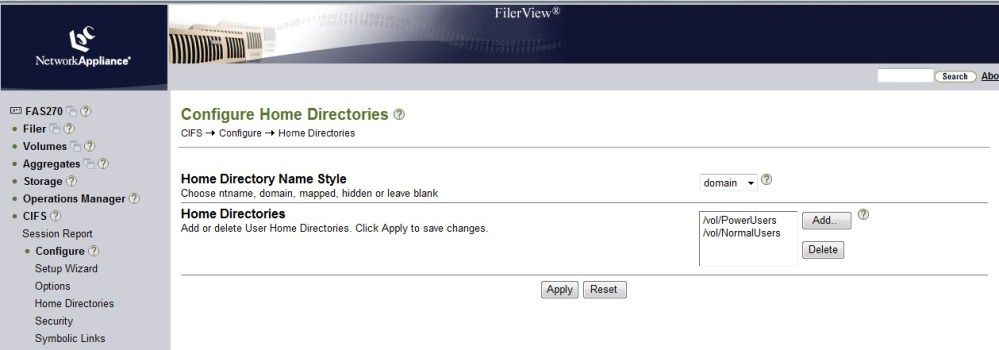 Home Folder Creation in NetApp and Active Directory (4/6)