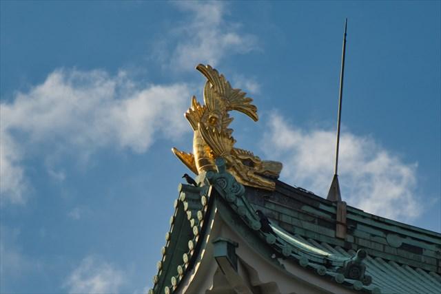 名古屋城の金のシャチホコ
