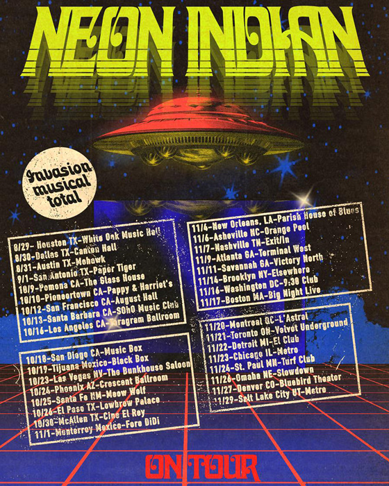 Neon Indian to play Toronto and Montreal on a North American tour