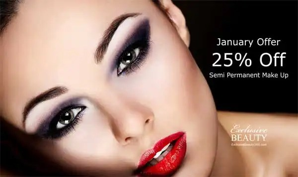 25% off Semi Permanent Make Up
