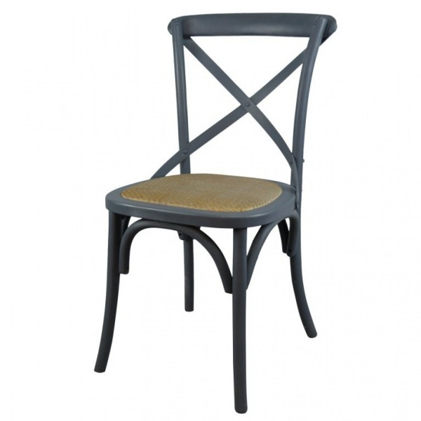 grey painted chairs wedding chair covers hire north wales wooden cross back dining