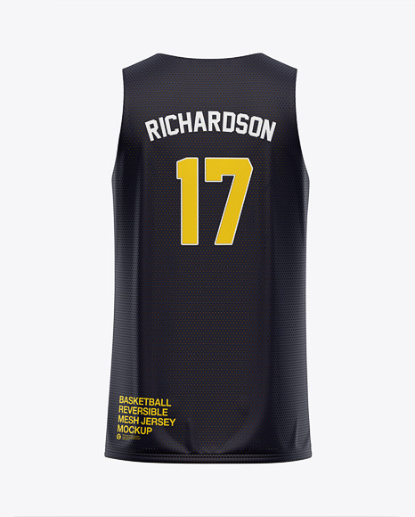 Download Basketball Reversible Mesh Jersey Mockup - Back View ...