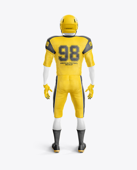 Download American Football Kit Mockup with Mannequin - Back View ...