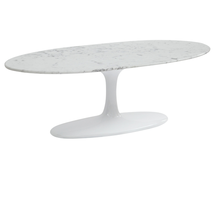 eero saarinen table tulip coffee table oval marble top reproduction