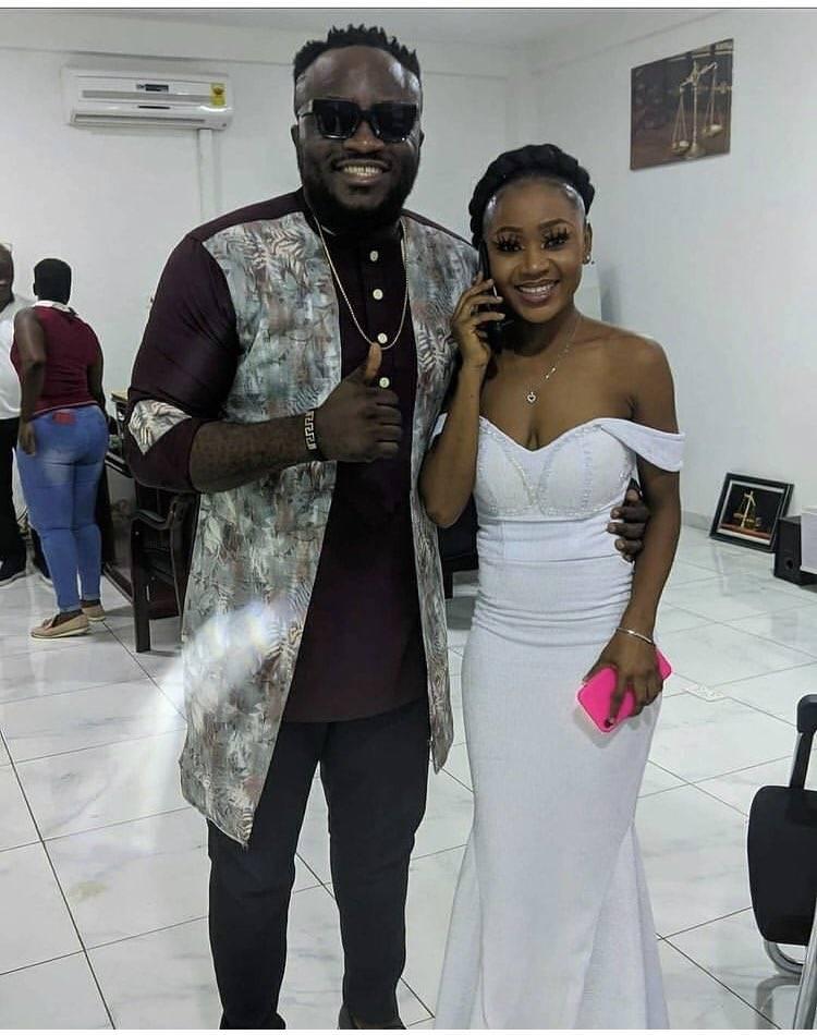 Comedian DKB With Actress Akuapem Poloo