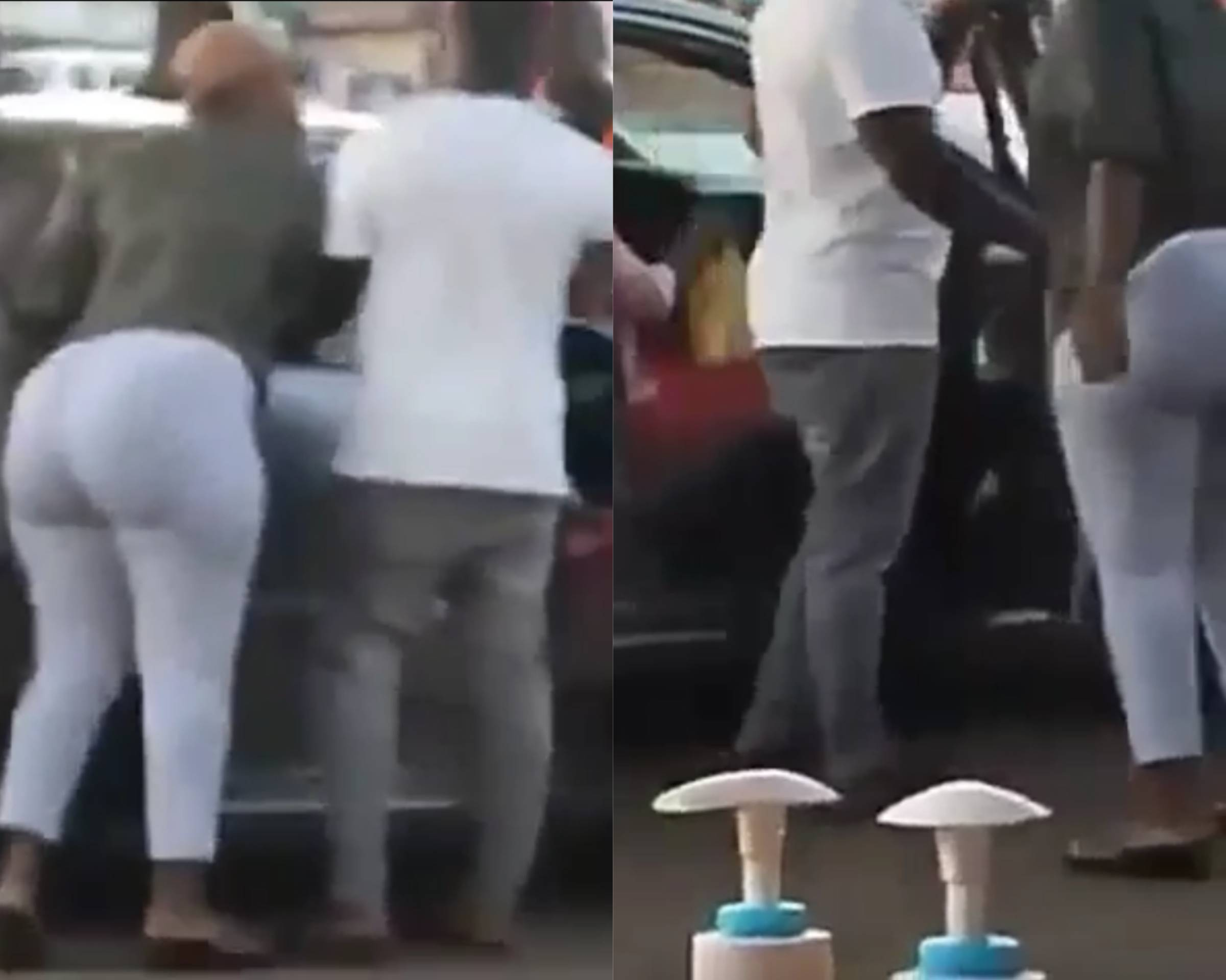 Lady Goes Berserk After Spotting A Different Girl In Her Boyfriend's Car