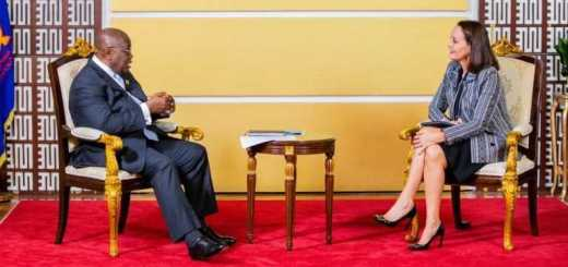 he exclusive interview, was hosted by the French Ambassador to Ghana