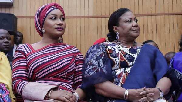 Samira Bawumia (left) and Rebecca Akufo-Addo at an event