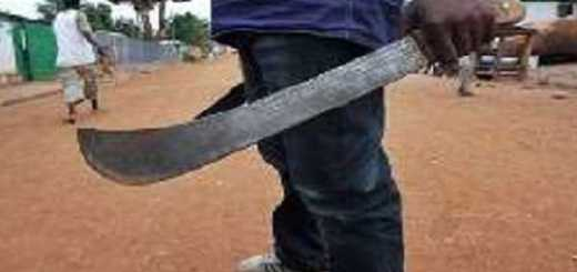 The boy inflicted machete wounds on his father