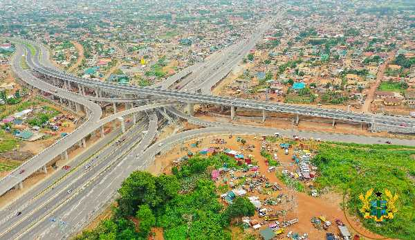 The four-tier Pokuase Interchange is the largest in West Africa