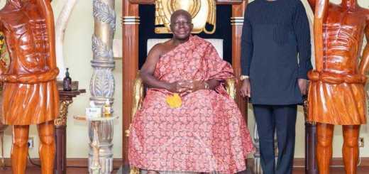 Otumfuo Osei Tutu II with Sarkodie