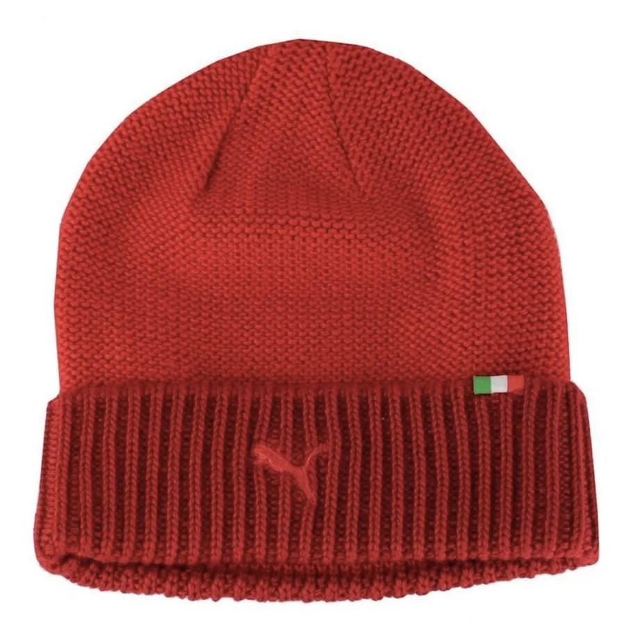 4482f64183d Puma Ferrari Formula 1 Mens Red Beanie Hat OSFA - Exclusive Sports
